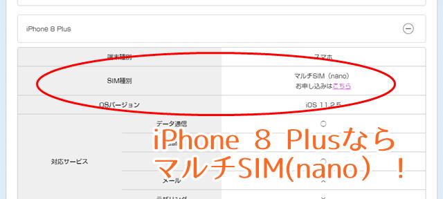 iphone8SIM種類
