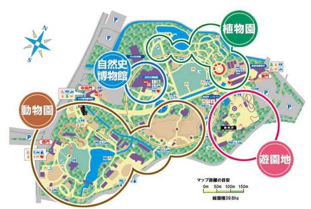 のんほいパーク全体図