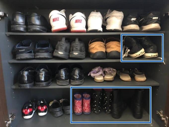 靴の収納横並び