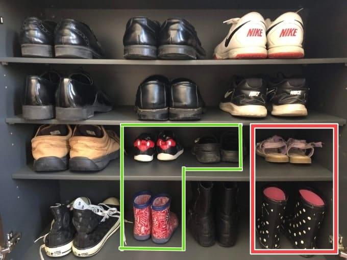 靴の縦並び収納